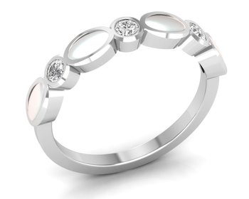 Micreation Brand New Cubic Zirconia Sterling Silver Ring Model No.MSR0157