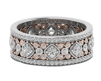 Micreation Brand New Cubic Zirconia Sterling Silver Ring Model No.MSR0161