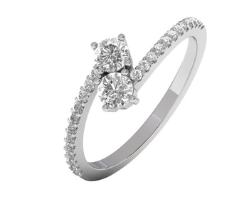 Micreation Brand New Cubic Zirconia Sterling Silver Ring Model No.MSR0162