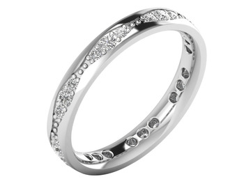 Micreation Brand New Cubic Zirconia Sterling Silver Ring Model No.MSR0163