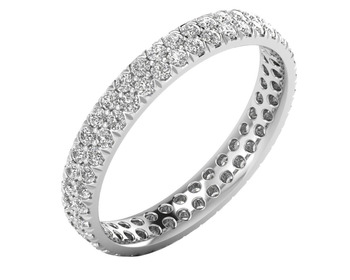 Micreation Brand New Cubic Zirconia Sterling Silver Ring Model No.MSR0166