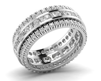 Micreation Brand New Cubic Zirconia Sterling Silver Ring Model No.MSR0170