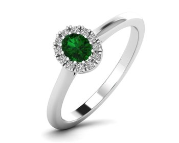 Micreation Brand New Cubic Zirconia Sterling Silver Ring Model No.MSR0174