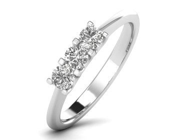 Micreation Brand New Cubic Zirconia Sterling Silver Ring Model No.MSR0175