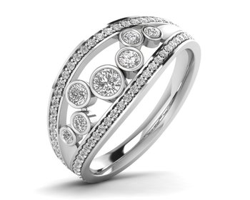 Micreation Brand New Cubic Zirconia Sterling Silver Ring Model No.MSR0176