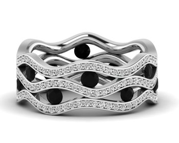 Micreation Brand New Cubic Zirconia Sterling Silver Ring Model No.MSR0178