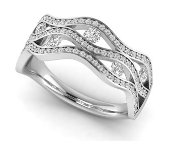 Micreation Brand New Cubic Zirconia Sterling Silver Ring Model No.MSR0181