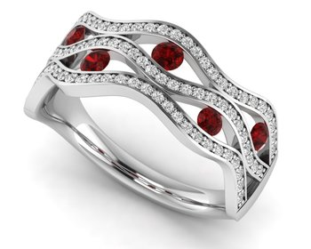 Micreation Brand New Cubic Zirconia Sterling Silver Ring Model No.MSR0182