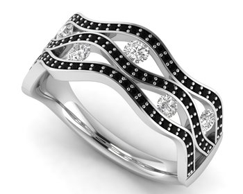 Micreation Brand New Cubic Zirconia Sterling Silver Ring Model No.MSR0184
