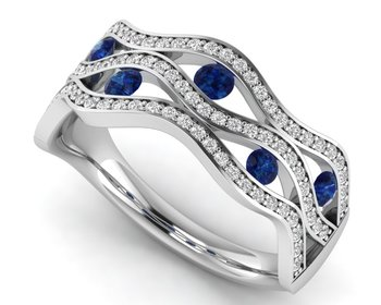 Micreation Brand New Cubic Zirconia Sterling Silver Ring Model No.MSR0185