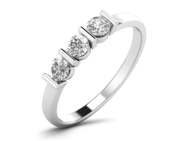 Micreation Brand New Cubic Zirconia Sterling Silver Ring Model No.MSR0191