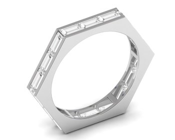 Micreation Brand New Cubic Zirconia Sterling Silver Ring Model No.MSR0193
