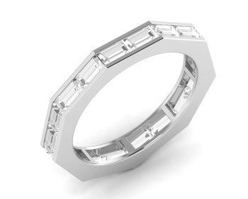 Micreation Brand New Cubic Zirconia Sterling Silver Ring Model No.MSR0194