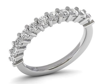 Micreation Brand New Cubic Zirconia Sterling Silver Ring Model No.MSR0200