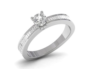 Micreation Brand New Cubic Zirconia Sterling Silver Ring Model No.MSR0202