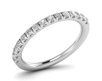 Micreation Brand New Cubic Zirconia Sterling Silver Ring Model No.MSR0203