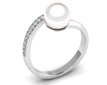 Micreation Brand New Cubic Zirconia Sterling Silver Ring Model No.MSR0210