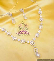 Buy Elegant American Diamond Necklace Necklace online