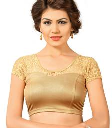 Copper shimmer plain stitched readymade blouse
