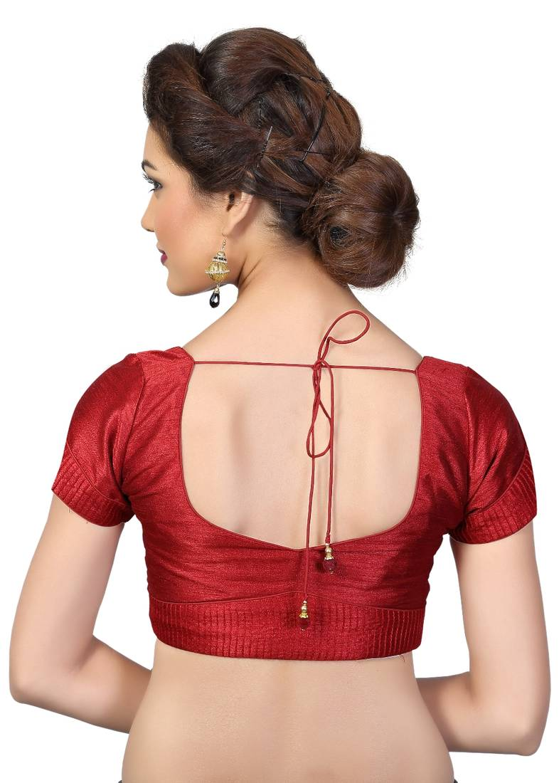 Buy Maroon Dupion Silk Embrodiered Stitched Readymade