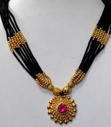 Golden pendant nice mangalsutra necklace