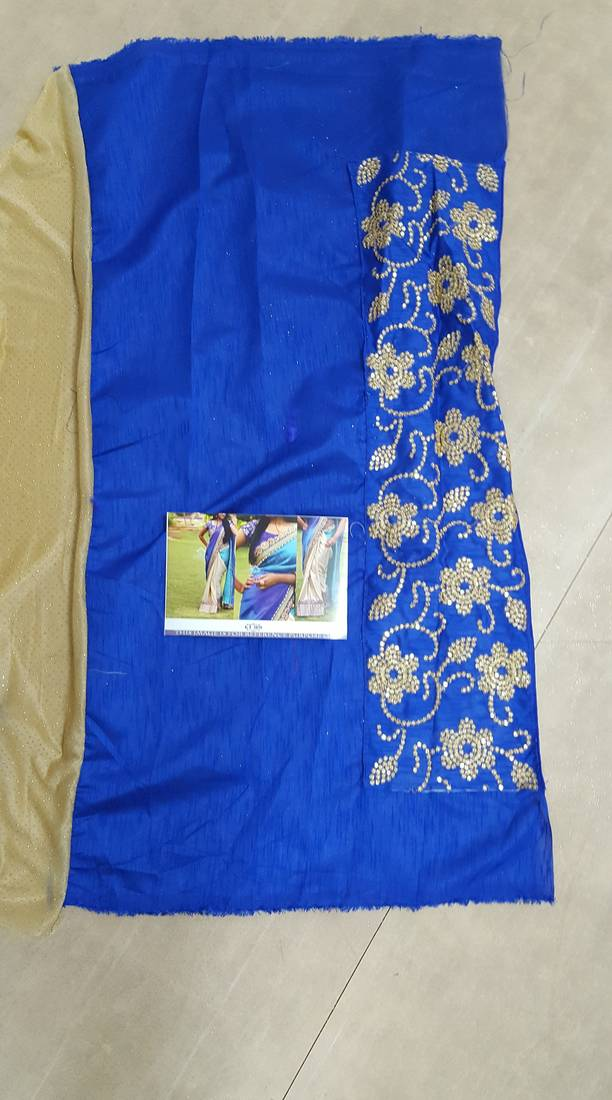 9802f2581d KT-3101 Bikaw Embroidered Multicolor Silk Traditional Party Wear Saree. - KT -3101