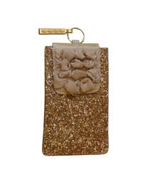 Buy Ribbon delight mobile cover gold wallet online
