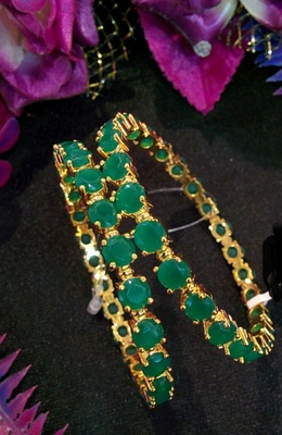 Emerald Bangles