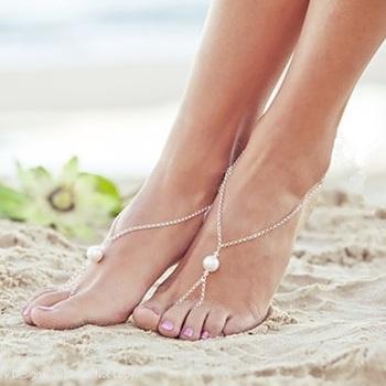 Pearl Silver Chain Exclusive designer classic pretty Anklets