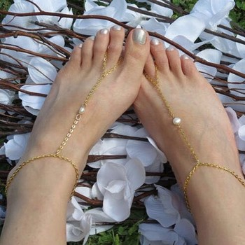 Pearl golden Chain Exclusive designer classic pretty Anklets