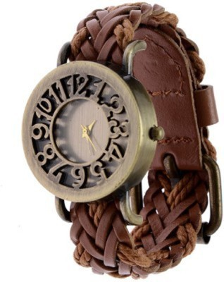 New Fashion Brown colour Leather strap stylist Latest 2016  Wristwatch