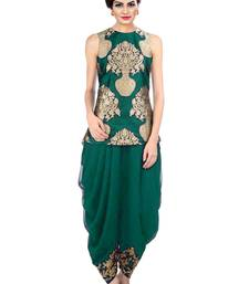Buy indo western dhoti pant and jacket (Green) women-ethnic-wear online