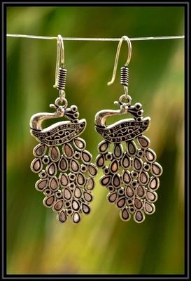 Silver metallic danglers drops