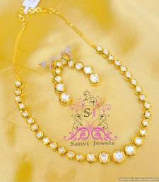 Single Line Kundan Meenakari Necklace