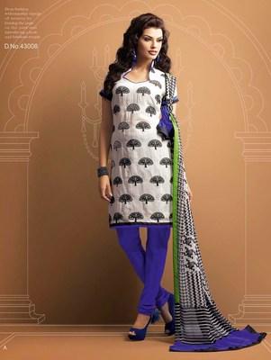 Designer Offwhite Chanderi Suit