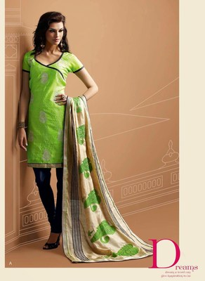 Designer Green Chanderi Suit