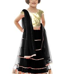 Buy New Arrvial Black Color Soft Net Kids Lehenga Choli For New Year kids-lehenga-choli online