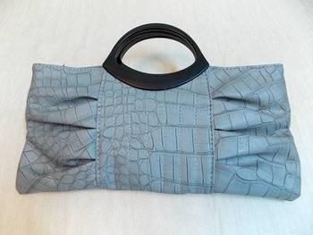 Designer brand crocodile Grain pattern PU Leather clutch purse bag