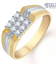 4cd3ba9eb65a7 Sukkhi Gold and Rhodium Plated CZ Ring for Men(107GRK480)