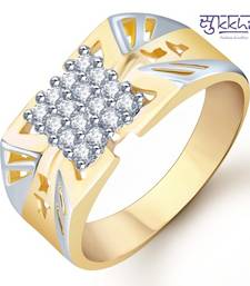 Sukkhi Gold and Rhodium Plated CZ Ring for Men(113GRK600)