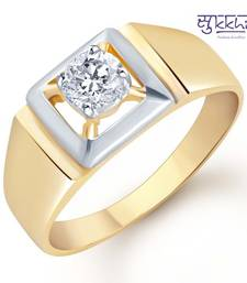 Buy Sukkhi Gold and Rhodium Plated Solitaire CZ Ring for Men(123GRK590) gifts-for-him online