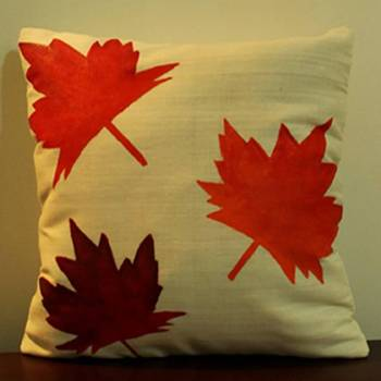 Maple Leaves Cushion Cover