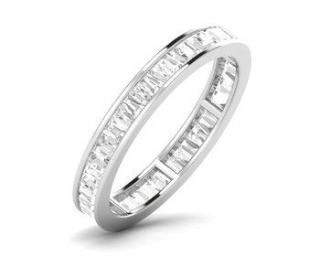 Micreation Brand New Cubic Zirconia Sterling Silver Ring Model No.MSR0116