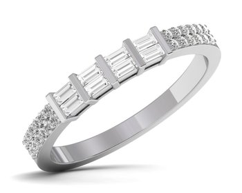 Micreation Brand New Cubic Zirconia Sterling Silver Ring Model No.MSR0117