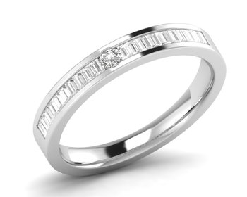 Micreation Brand New Cubic Zirconia Sterling Silver Ring Model No.MSR0118