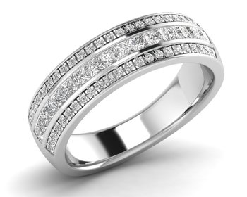 Micreation Brand New Cubic Zirconia Sterling Silver Ring Model No.MSR0120