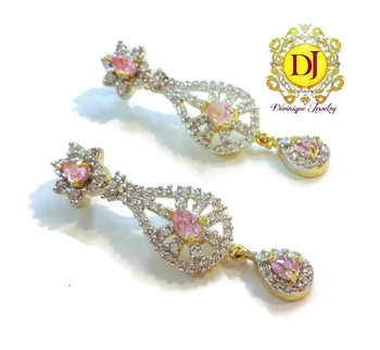 Pink Delight AD Earrings