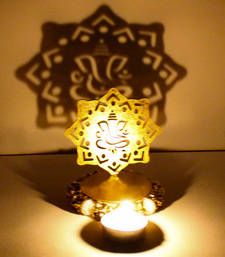 Buy Exclusive shadow diya tealight candle holder of removable ganesha diwali-home-decor online