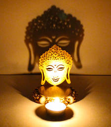 Buy Exclusive shadow diya tealight candle holder of removable buddha diwali-home-decor online
