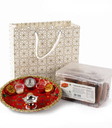 Buy Cookies and thali with gift bag for bhai dhooj diwali-gift online